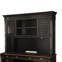 Coaster Furniture - 801722H - HUTCH (BLACK/WARM AMBER)