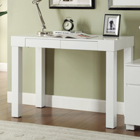 Coaster Furniture - 801737 - OFFICE DESK (HIGH GLOSS WHITE)