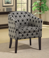 Coaster Furniture 900435 - Charlotte Accent Chair (Hexagon Pattern)