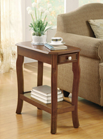 Coaster Furniture 900993 - Chairside Table (Warm Cherry)