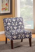 Coaster Furniture - 902028 - ACCENT CHAIR (NAVY/WHITE)