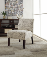 Coaster Furniture - 902055 - ACCENT CHAIR (FRENCH SCRIPT PATTERN)