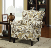 Coaster Furniture - 902082 - ACCENT CHAIR (CREAM/GREEN)