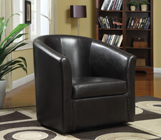 Coaster Furniture - 902098 - SWIVEL CHAIR (DARK BROWN)