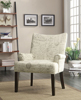 Coaster Furniture - 902149 - ACCENT CHAIR (OFF WHITE)