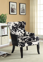 Coaster Furniture - 902169 - ACCENT CHAIR (BLACK/WHITE)