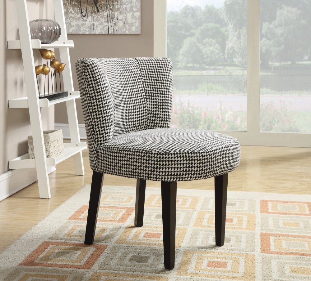 Outstanding Coaster Furniture 902175 Accent Chair White Black Ncnpc Chair Design For Home Ncnpcorg