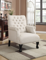 Coaster Furniture - 902177 - ACCENT CHAIR (OATMEAL)