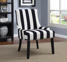 Coaster Furniture - 902188 - ACCENT CHAIR (NAVY/WHITE)