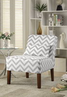 Coaster Furniture - 902259 - ACCENT CHAIR (GREY/WHITE)