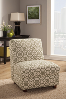 Coaster Furniture - 902526 - ACENT CHAIR (OFF WHITE/GREEN)