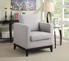 Coaster Furniture - 902608 - ACCENT CHAIR (LIGHT GREY)