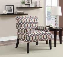 Coaster Furniture - 902620 - ACCENT CHAIR (RED WITH GREY)
