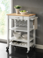 Coaster Furniture - 910025 - KITCHEN CART (NATURAL/WHITE)
