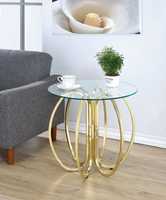 "Coaster Furniture Accent table - Brushed brass, 23.5""H"