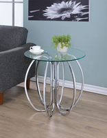 "Coaster Furniture Accent table - Chrome, 23.5""H"