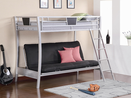 Coaster Furniture 460024 - Twin/Futon Bunk Bed (Silver)