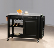 Coaster Furniture 5870 - Kitchen Cart (Black)