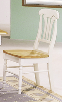Coaster Furniture 4222 - Side Chair (Natural/White) - Set of 2