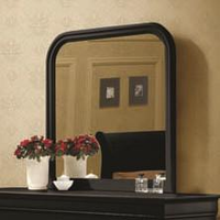 Coaster Furniture 203964 - Louis Philippe Mirror (Black)