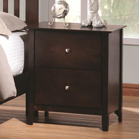 Coaster Furniture 202082 - Tia Night Stand (Cappuccino)