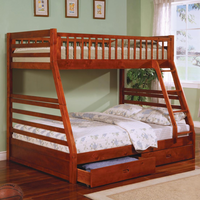 Coaster Furniture 460183 - Twin/Full Bunk Bed (Honey Oak)