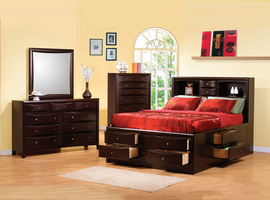 Coaster Furniture 200409Q - Phoenix Queen Storage Bed (Deep Cappuccino)