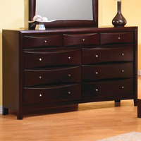 Coaster Furniture 200413 - Phoneix Dresser (Deep Cappuccino)