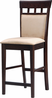 "Coaster Furniture 100219 - 24""H Cushion Back Stool  (Cappuccino) - Set of 2"