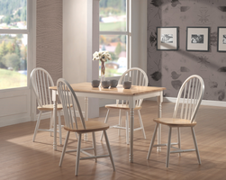 Coaster Furniture 4129 - Side Chair (Natural/White) - Set of 4