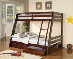 Coaster Furniture 460228 - Twin/Full Bunk Bed (Cappuccino)