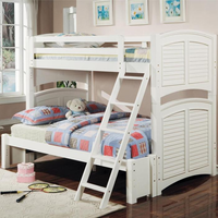Coaster Furniture 460073 - Twin/Twin Or Twin/Full Bunk Bed (White)