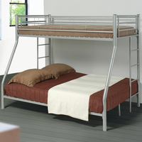 Coaster Furniture 460062 - Twin/Full Bunk Bed (Silver)