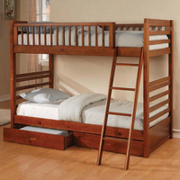 Coaster Furniture 460193 - Twin/Twin Bunk Bed (Honey Oak)