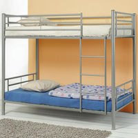 Coaster Furniture 460072 - Twin/Twin Bunk Bed (Silver)