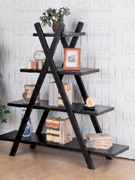 Coaster Weathered Black Small Book Shelf