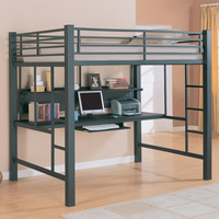 Coaster Workstation Full / Double  Metal Loft Bed