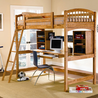 Coaster Furniture 460053 - Twin Workstation Bunk Bed (Honey Pine)