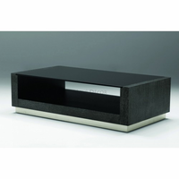 Coffee Table Corsico Oak Charcoal Black Glass