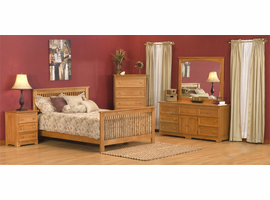 Columbia Bed with Matching Footboard