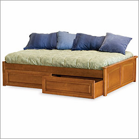 Concord Platform Bed with Optional Panel Footboard Bedroom Set