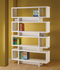 Contemporary Bookcase In Cappuccino Or White