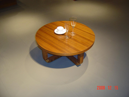 Beverly Hills Olive Round Coffee Table