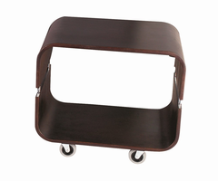 Contour Rolling End Table, Walnut