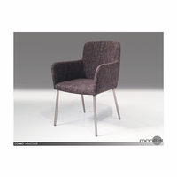 Cosmo Armchair Grey Tweed Fabric