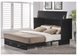 Cottage Creden-ZzZ Queen Cabinet Bed, Black