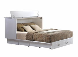 Cottage Creden-ZzZ Queen Cabinet Bed, White
