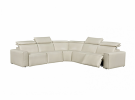 Creative Furniture Alycia Leather Sectional with Recliner