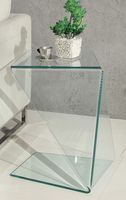 Creative Furniture Origami End Table-Clear