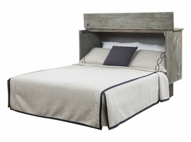 Creden-ZzZ Queen Cabinet Bed With Mattress in Studio Ash
